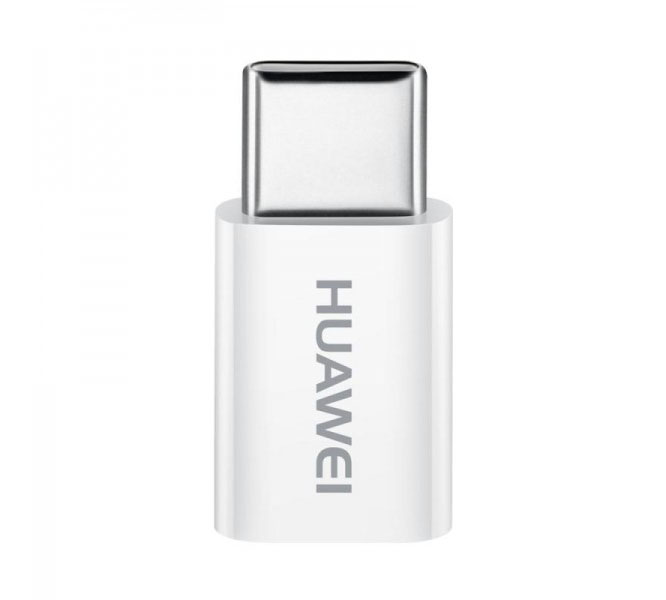 Huawei (AP52) microUSB to USB Type-C Adapter White (συμβατός για συγχρονισμό & φόρτιση)