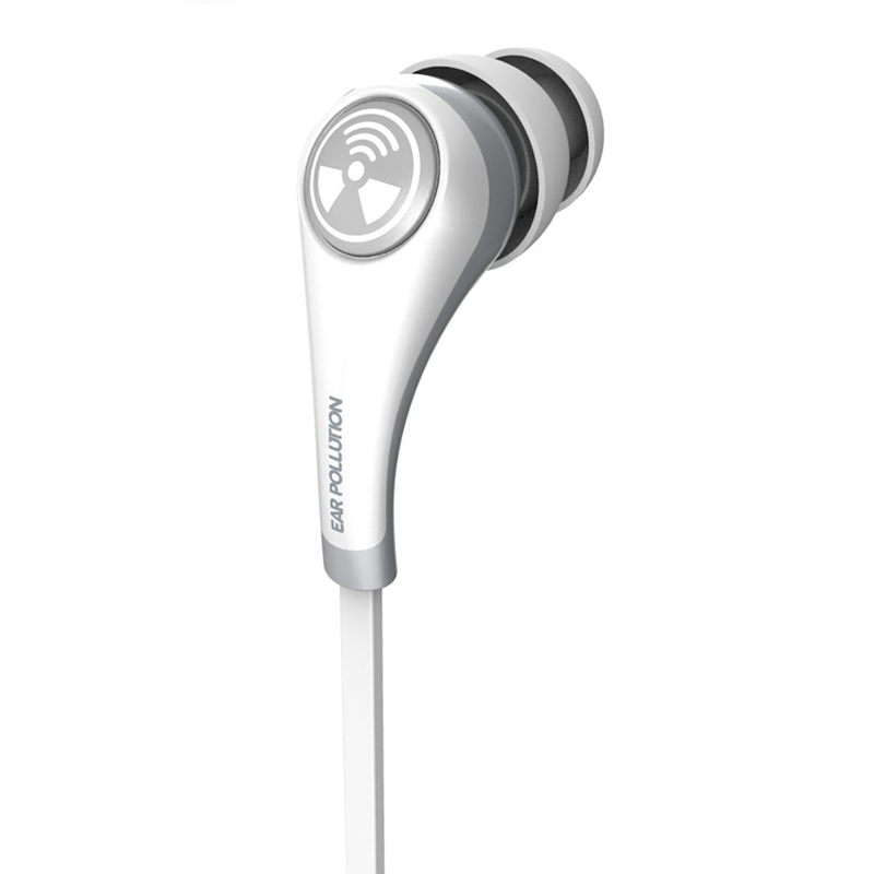 iFrogz Plugz Mobile with Mic White: Supreme Quality Stereo Headset & Hands-Free (κλήσεις & μουσική με Flat καλώδιο)