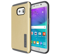 Incipio DualPro Shine Protection Case With Aluminium Finish για Samsung SM-G925F S6 Edge Gold (SA-631-GLD)