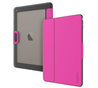 Incipio Clarion Leather Flip & Stand Case για Apple iPad Air 2 Pink / Clear Back (IPD-353-PNK)