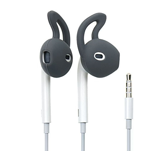 Inos Silicone Cover & Earhook για Apple MD827 Earpods Black