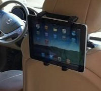 Fly Car Headrest Mount & Holder S2206W-AB για Apple iPad, Tablets, PNA, PDA, TV, DVD, GPS κ.λπ.