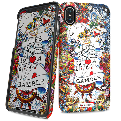"i-Paint Tattoo Ultra Slim Case για Apple iPhone X (5.8"")"