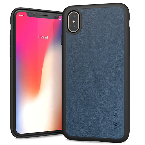 i-Paint Ultra Slim Leather Case για Apple iPhone X / iPhone XS Blue