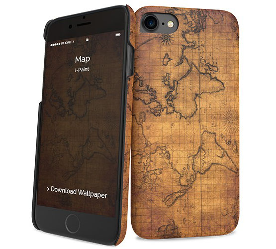 "i-Paint Map Ultra Slim Case για Apple iPhone 7 & 8 (4.7"")"