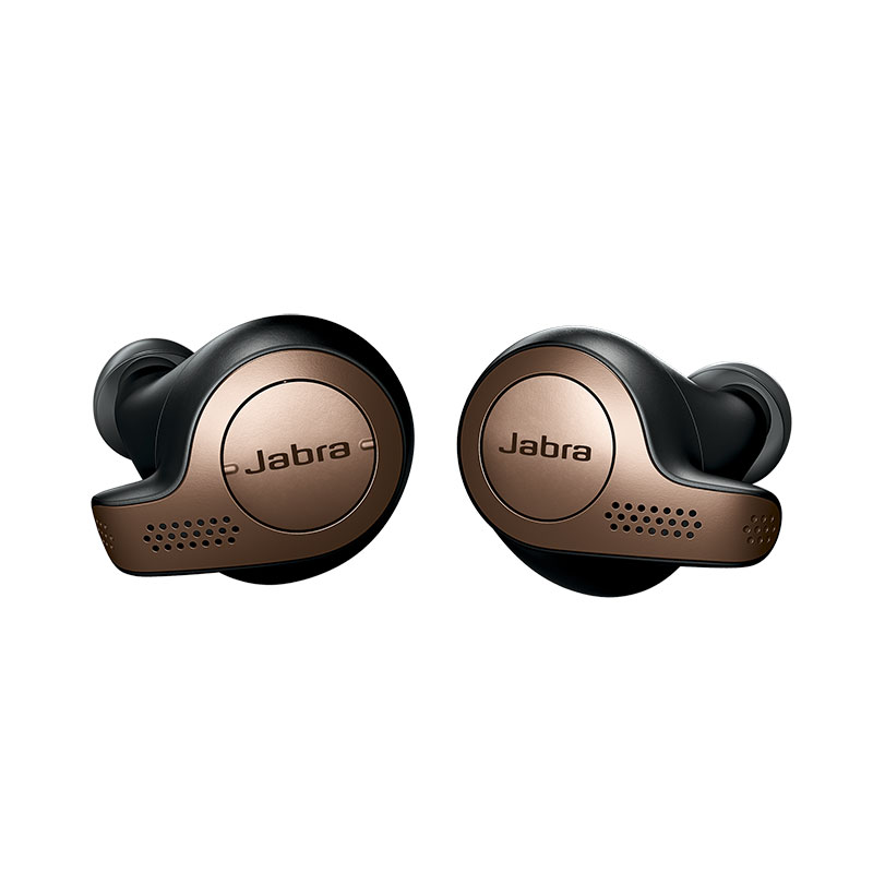 Jabra Elite 65t True Wireless Earbuds Cooper Black + Portable Charging Case (Δίνοντας 10 ώρες ομιλίας εξτρά!)