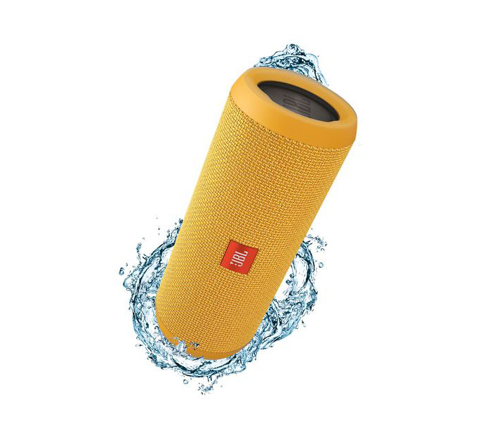 JBL Flip 3 Yellow Portable Bluetooth Speaker & Handsfree + Line-in (Ηχείο & Ανοιχτή συνομιλία για κλήσεις + Splashproof)