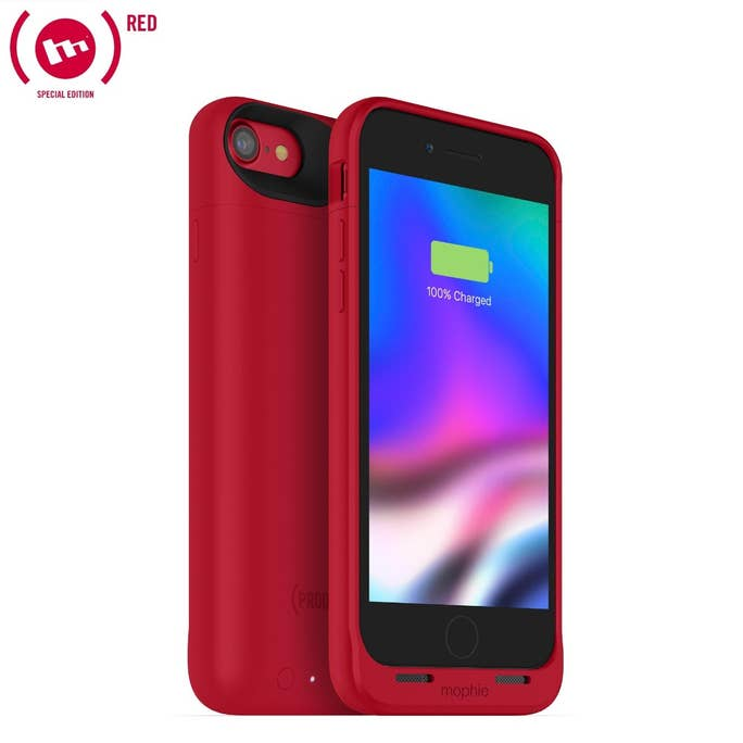 "Mophie Juice Pack Air Case With Battery (2525mAh) για iPhone iPhone 7 & 8 (4.7"") Product (RED) (100% έξτρα μπαταρία)"