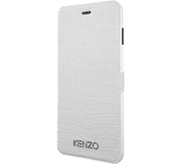 "Kenzo Croco Leather & Stand Case για iPhone 6 / 6S (4.7"") Croco White"