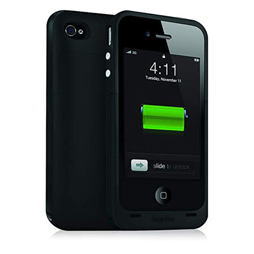 Mophie Juice Pack Plus Case With Battery (2000mAh) για iPhone 4 / 4S Black (100% έξτρα μπαταρία)