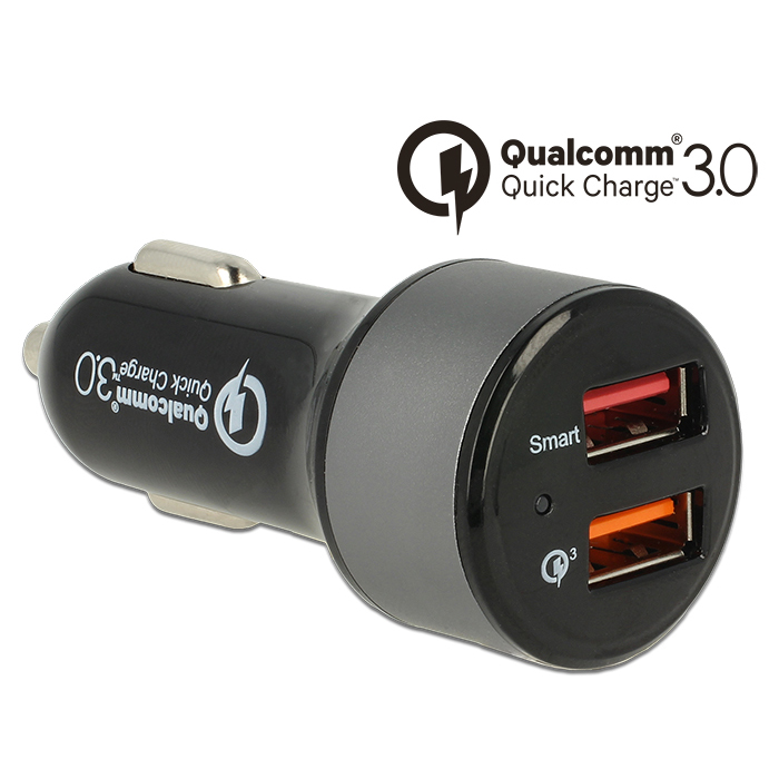 Navilock 62739 Quick Car Charger 2 x USB @ 5.4A με τεχνολογία Qualcomm Quick Charge 3.0!