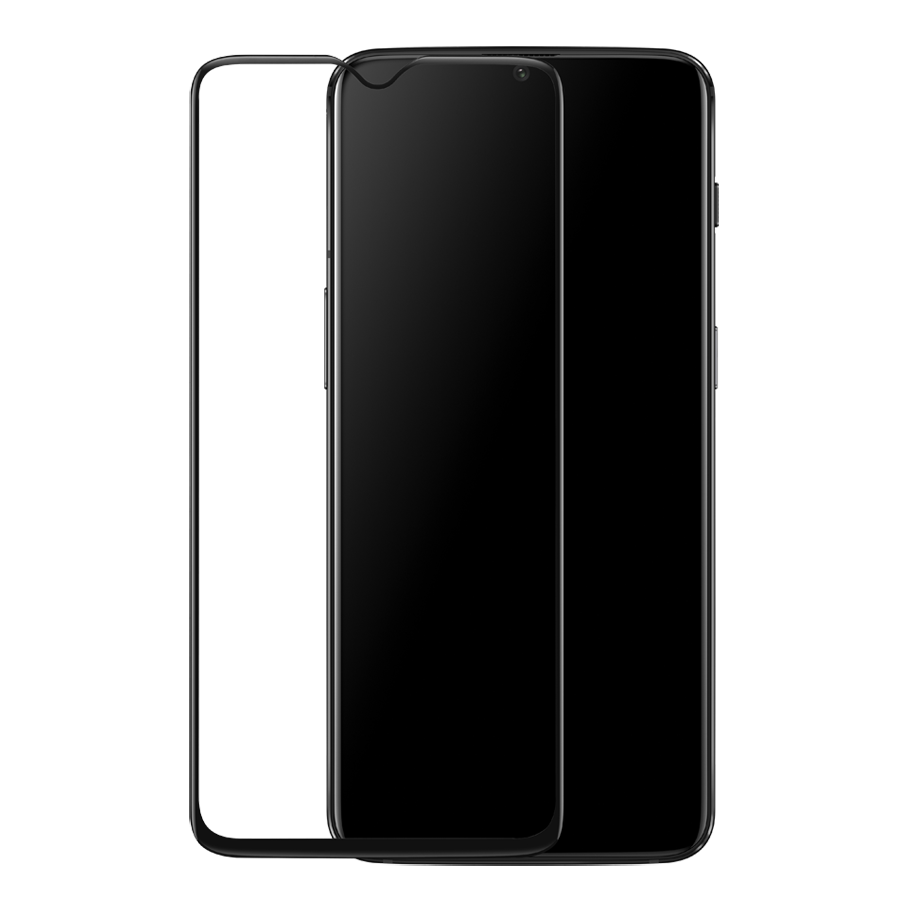 Ultimate Shield Premium Full Face & Curved Tempered Glass Protector για Oneplus 6T/7 Black
