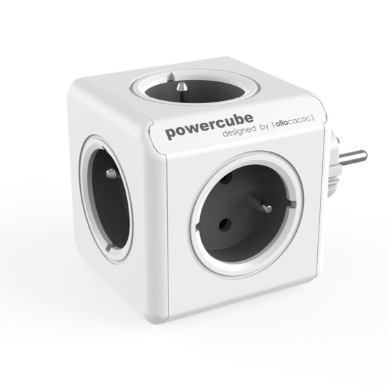 Allocacoc PowerCube Original Grey | Πολύπριζο 5 Θέσεων