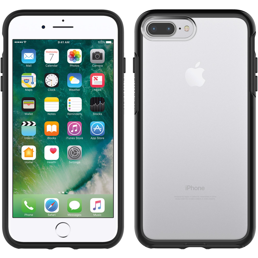 "Otterbox (77-53954) Symmetry Series Sleek Protection Case για Apple iPhone 7 Plus & iPhone 8 Plus (5.5"") Black Crystal"