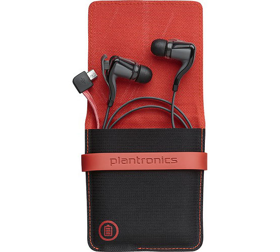 Plantronics BackBeat Go 2 Stereo Bluetooth Headphones By P2i + Portable Charging Case (φορήτη θήκη για φόρτιση) Black