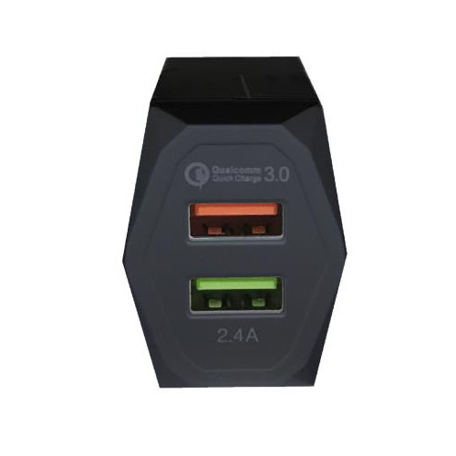 PowerOn CH-85 Dual USB Home Quick Charger με υποστήριξη Quick Charge QC3.0 Black: Φορτιστής Ρεύματος με διπλή θύρα USB