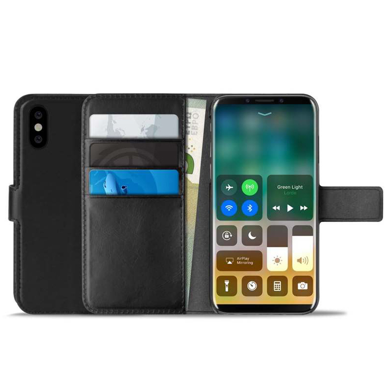 Puro Book & Stand Cover Case για Apple iPhone X / iPhone XS Black