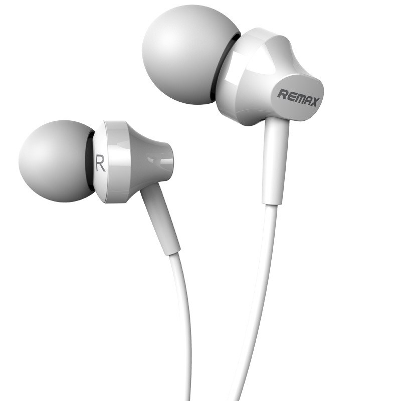 Remax RM-501 White: Wired Earphones για Κλήσεις & Μουσική (Android / Windows / iOS)