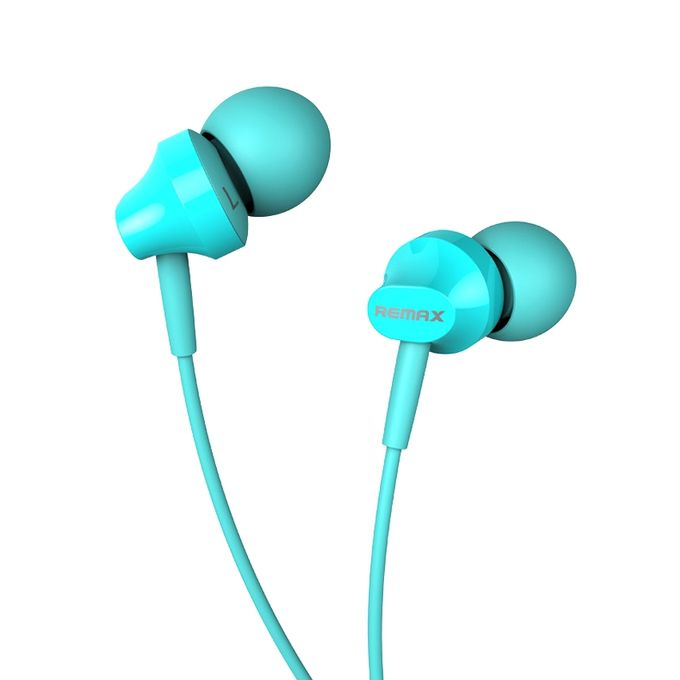 Remax RM-501 Blue: Wired Earphones για Κλήσεις & Μουσική (Android / Windows / iOS)