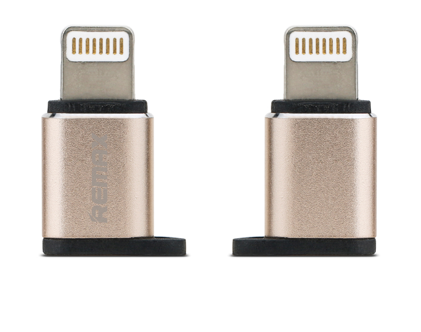 Remax RA-USB2 Gold microUSB to Lightning Adapter (συμβατός για συγχρονισμό & φόρτιση)