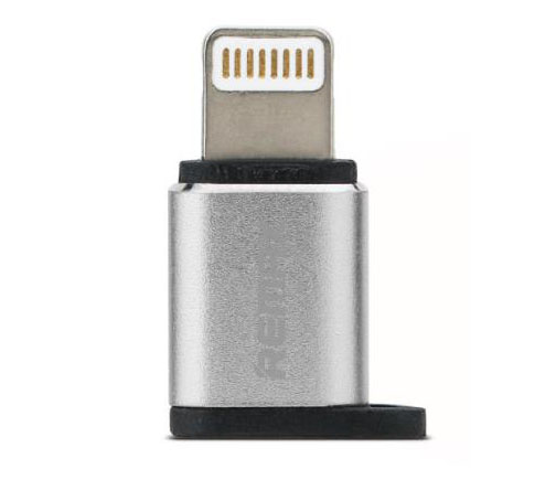 Remax RA-USB2 Silver microUSB to Lightning Adapter (συμβατός για συγχρονισμό & φόρτιση)