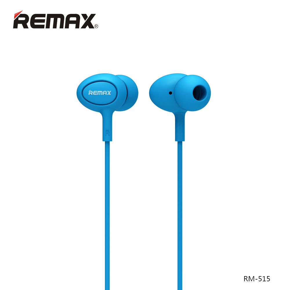 Remax RM-515 Blue: Wired Earphones για Κλήσεις & Μουσική (Android / Windows / iOS)