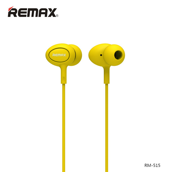 Remax RM-515 Yellow: Wired Earphones για Κλήσεις & Μουσική (Android / Windows / iOS)