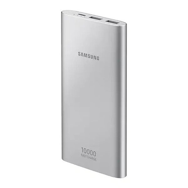 Samsung EB-P1100BSEGWW Silver Battery Pack 10000mAh + microUSB + Dual USB Port + 15W + Fast Charge