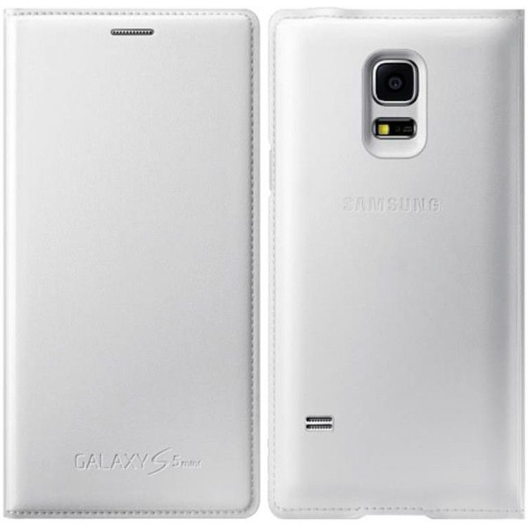 Samsung Original Flip Cover Case για Galaxy S5 Mini G800F White (EF-FG800BWE)