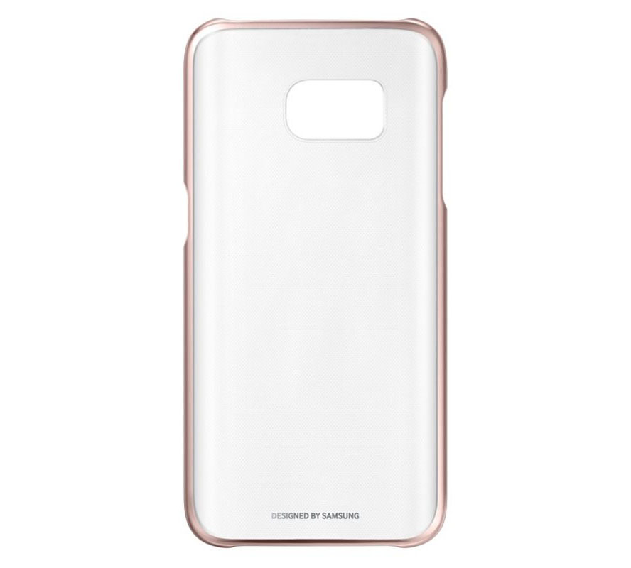 Samsung EF-QG930CZE Clear Cover Case για SM-G930F Galaxy S7 Rose Gold