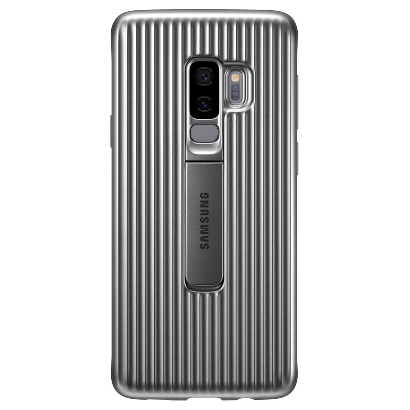 "Samsung EF-RG965CSE ""Ultimate Device Protection"" Protective Standing Cover Case για SM-G965F Galaxy S9+ (Plus) Silver"