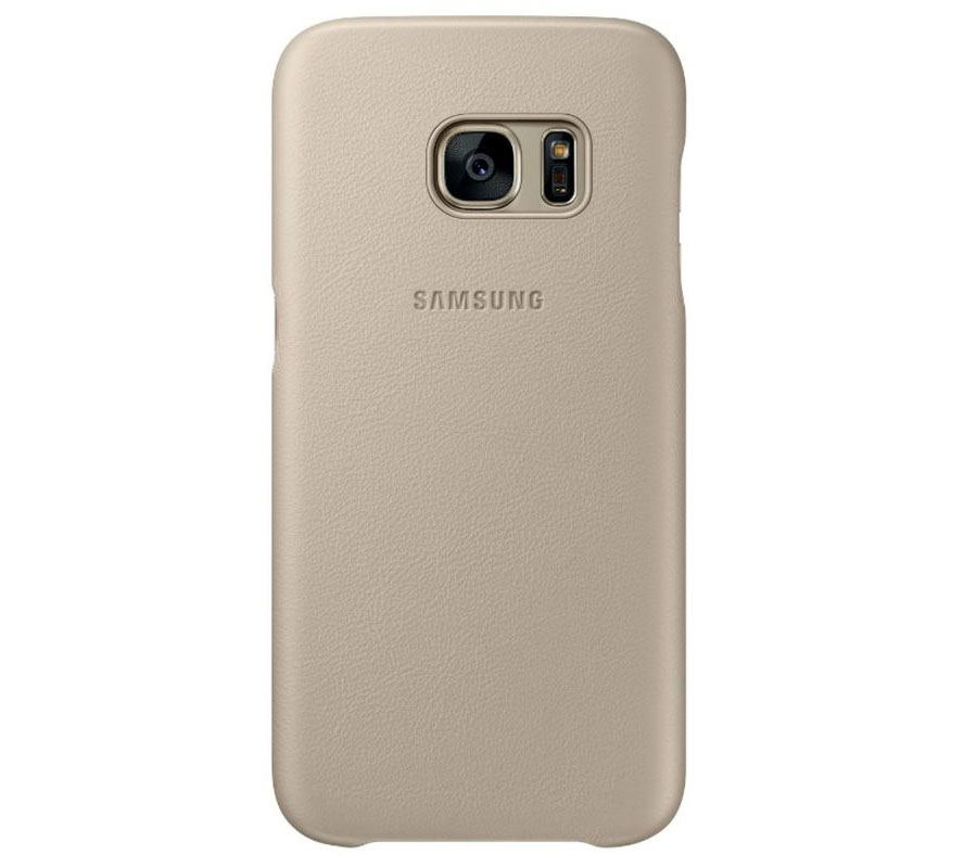 Samsung EF-VG930LUE Leather Cover Case για SM-G930F Galaxy S7 Beige