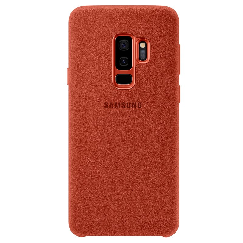 Samsung EF-XG965ARE Alcantara Premium Cover Case για SM-G965F Galaxy S9+ (Plus) Red