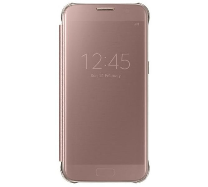 Samsung EF-ZG930CZE Clear View Cover Case για SM-G930F Galaxy S7 Rose Gold