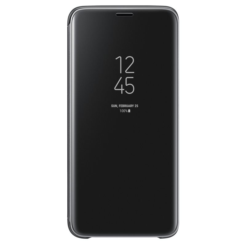 Samsung EF-ZG960CBE Clear View & Standing Cover Case για SM-G960F Galaxy S9 Black