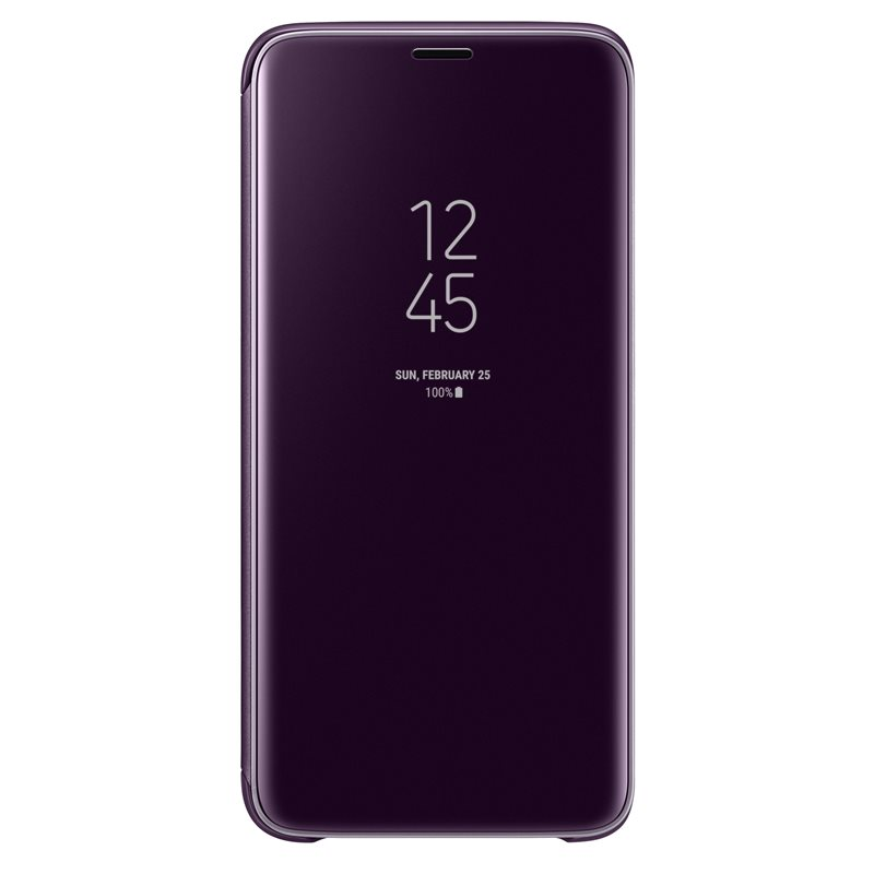 Samsung EF-ZG960CVE Clear View & Standing Cover Case για SM-G960F Galaxy S9 Purple