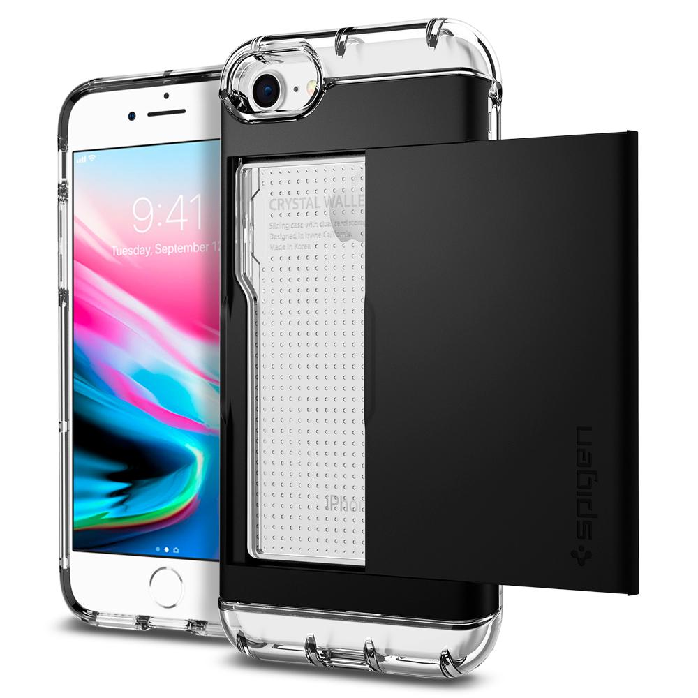 "Spigen (SGP-042CS20981) Crystal Wallet Case για Apple iPhone 7 & 8 (4.7"") Black"