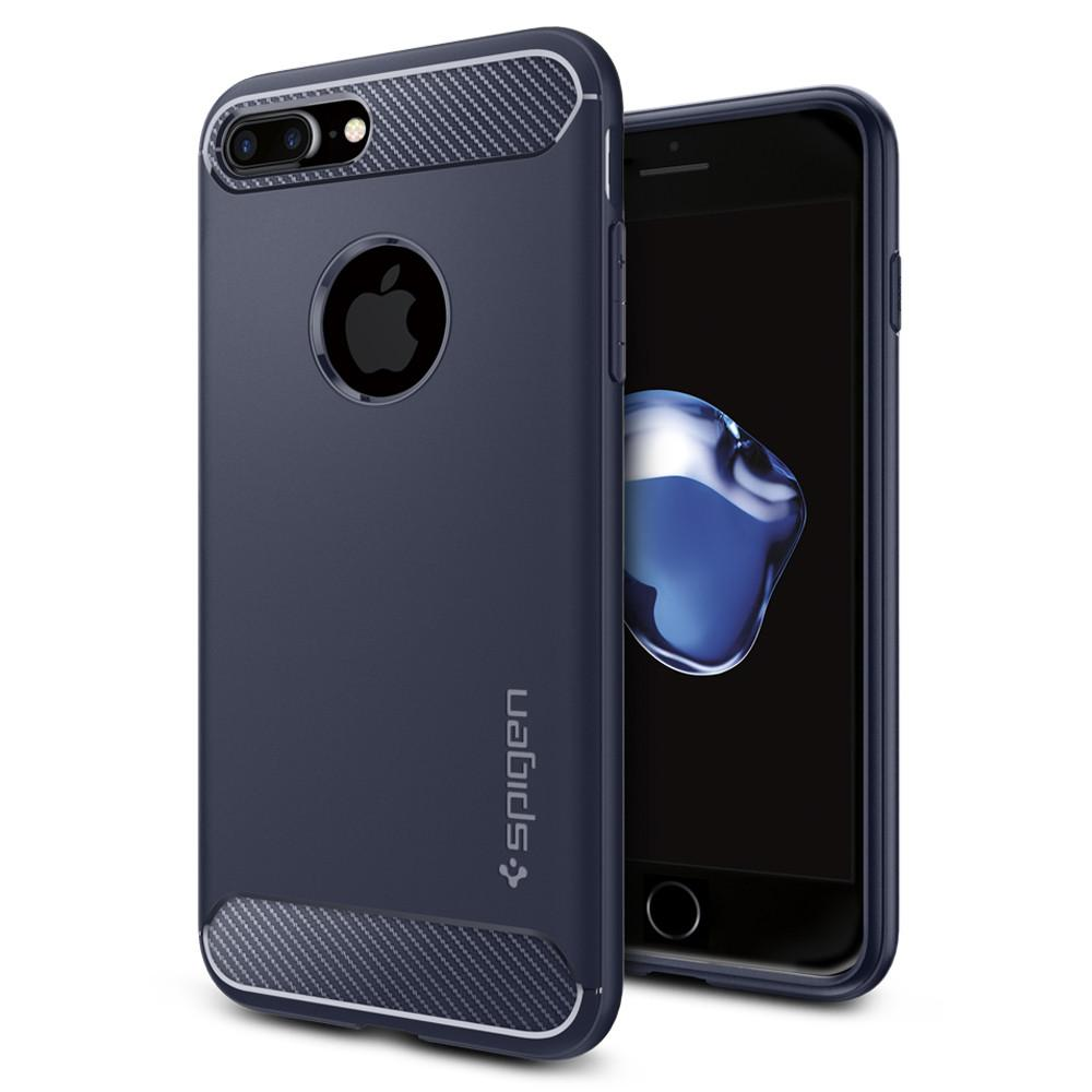 "Spigen (SGP-043CS21190) Case Capsule Ultra Rugged για Apple iPhone 7 Plus & iPhone 8 Plus (5.5"") Midnight Blue"