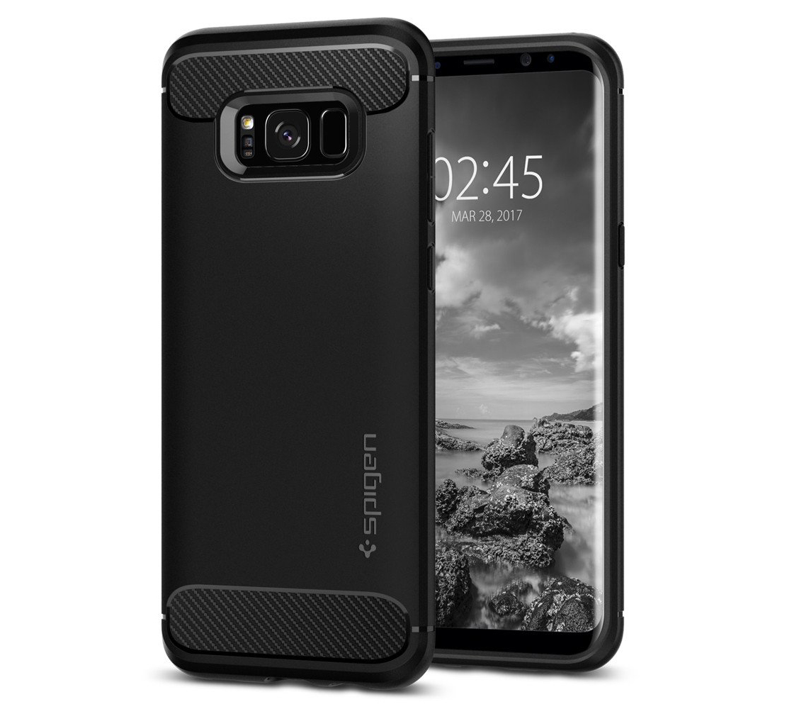 Spigen (SGP-571CS21661) Case Capsule Ultra Rugged για Samsung SM-G955F Galaxy S8+ (Plus) Black