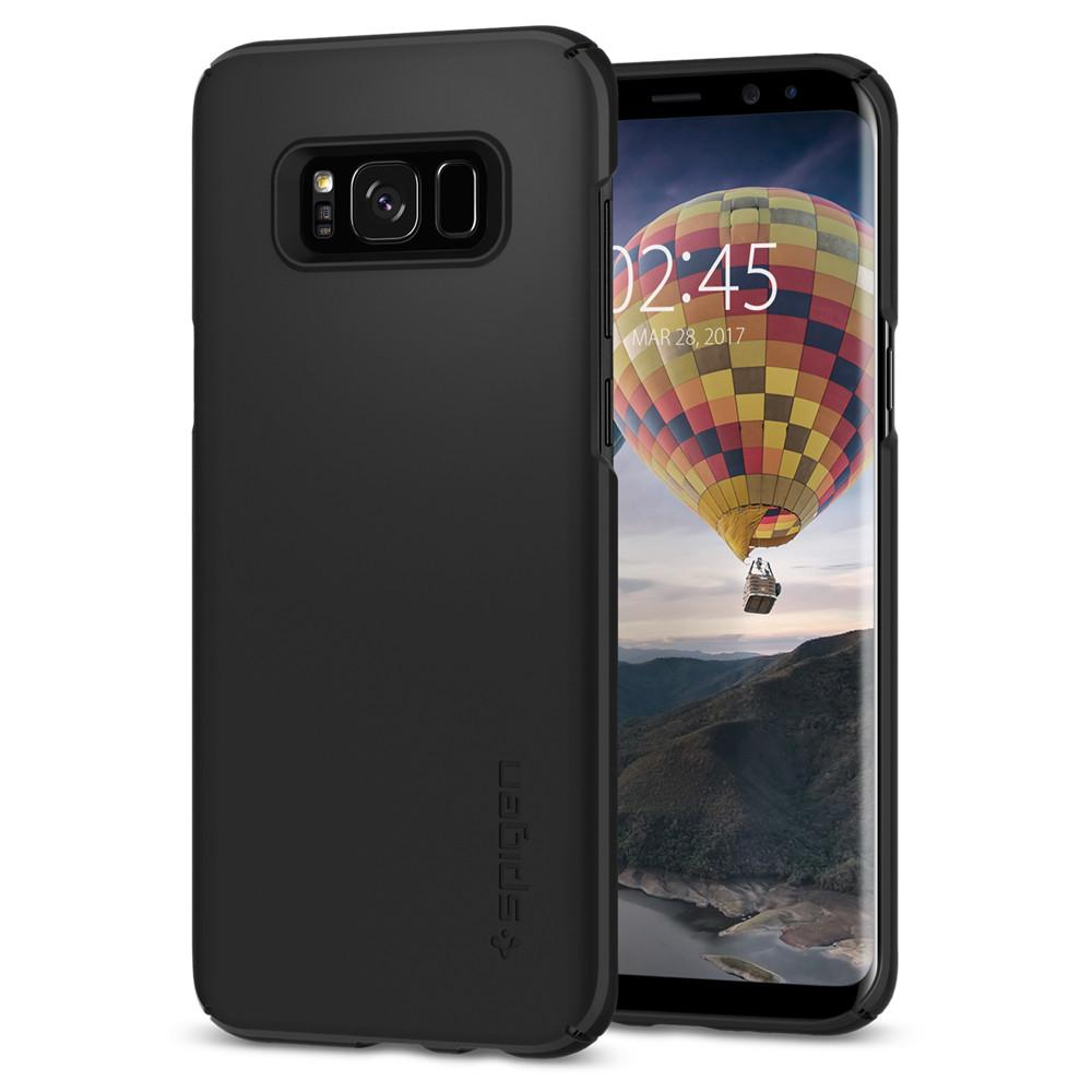 Spigen (SGP-571CS21676) Thin Fit Case για Samsung SM-G955F Galaxy S8+ (Plus) Black (με πάχος μόλις 0.8mm)