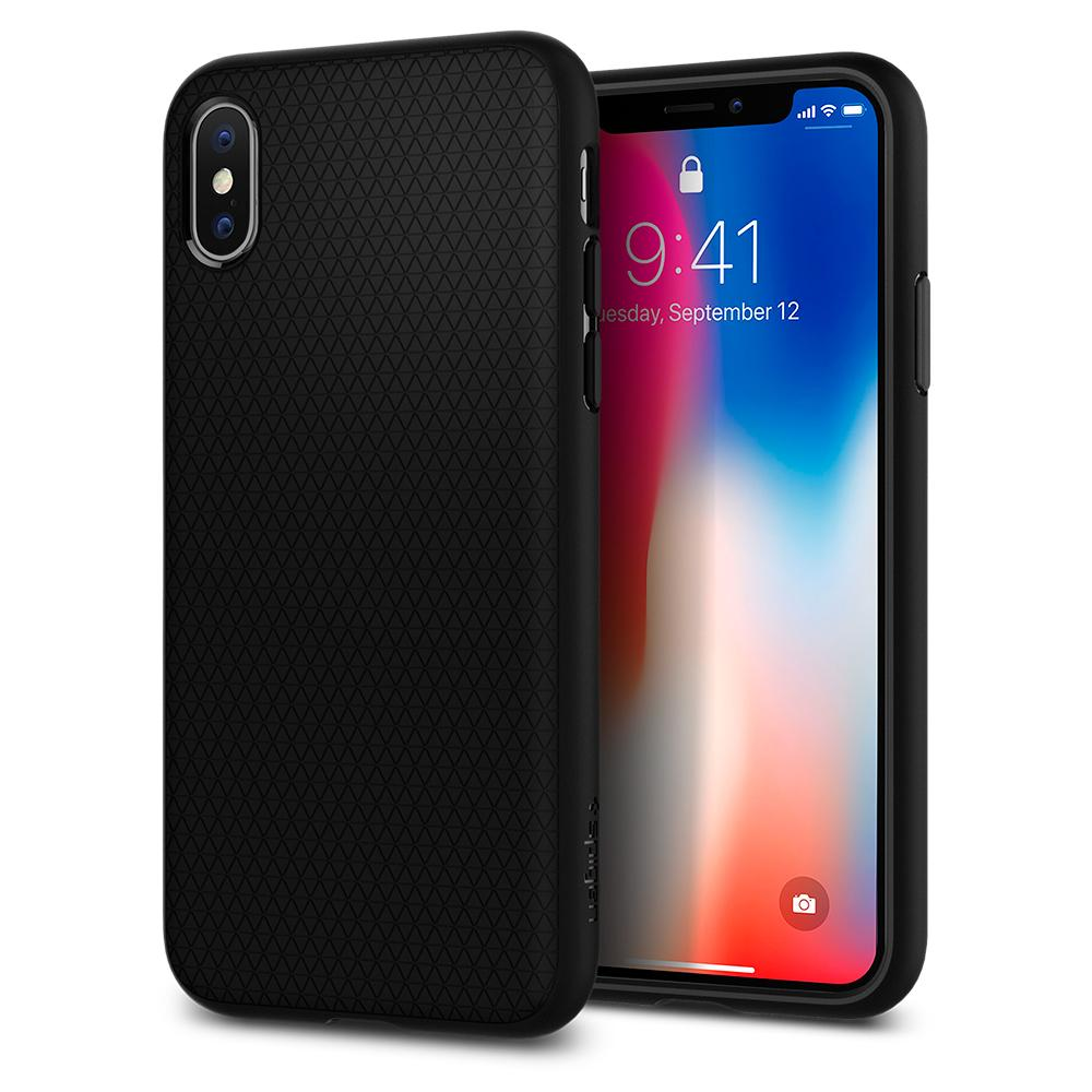 "Spigen (SGP-057CS22123) Case Liquid Air (TPU) για Apple iPhone X (5.8"") Matte Black"