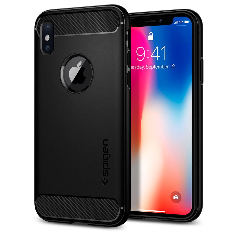 "Spigen (SGP-057CS22125) Case Rugged Armor για Apple iPhone X (5.8"") Black"
