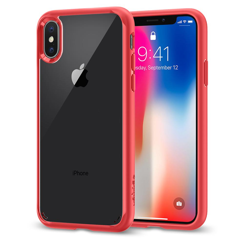 "Spigen (SGP-057CS22130) Ultra Hybrid για Apple iPhone X (5.8"") Red"