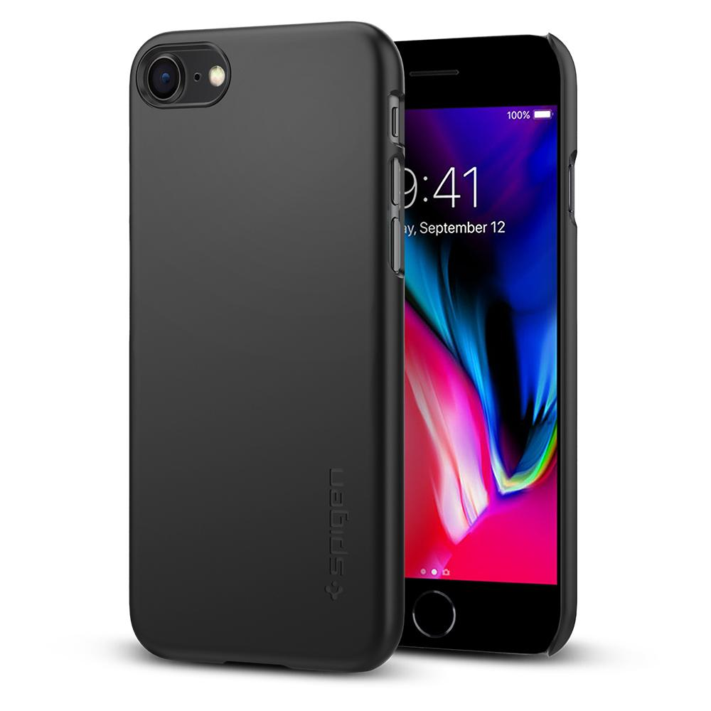 "Spigen (SGP-054CS22208) Thin Fit Case για iPhone 7 & 8 (4.7"") Black (με πάχος μόλις 0.8mm)"