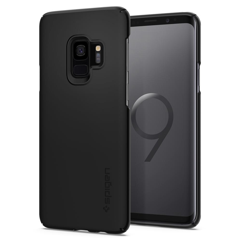 Spigen (SGP-592CS22821) Thin Fit Case για Samsung SM-G960F Galaxy S9 Black (με πάχος μόλις 0.8mm)