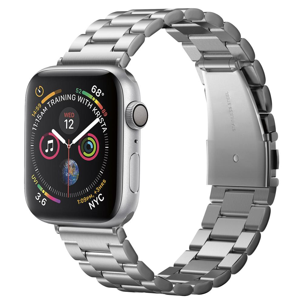 Spigen (SGP-062MP25404) Stainless Steel Band Modern Fit Silver για Apple Watch 5/4/3/2/1 (44/42mm) & Smartwatches 22mm