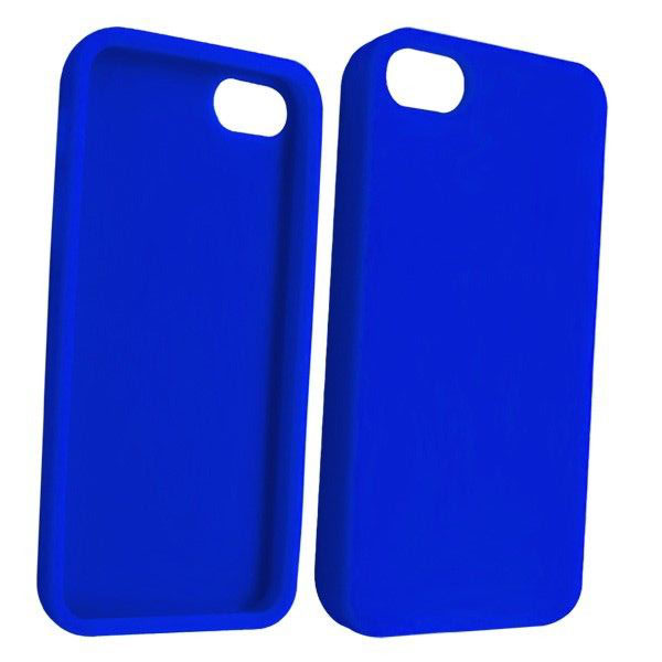 STK Fashionable Protective TPU Case για iPhone 5 Blue (Λεπτή και ελαφριά!)