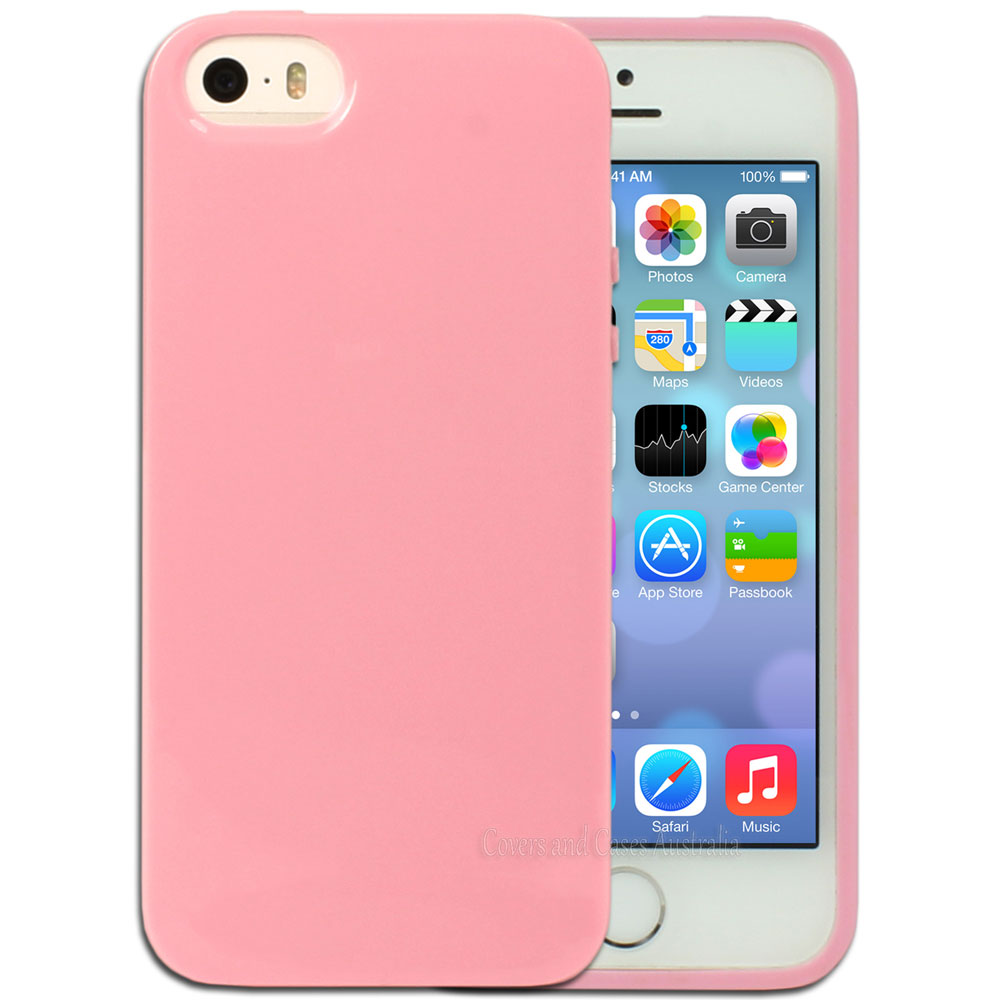 STK Fashionable Protective TPU Case για iPhone 5 Pink (Λεπτή και ελαφριά!)