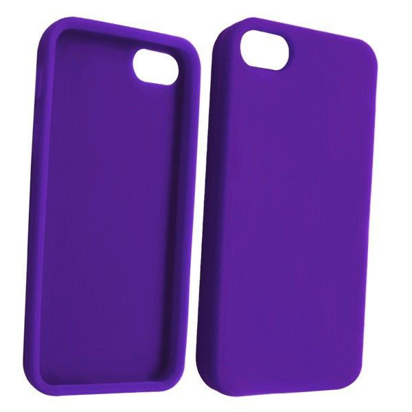STK Fashionable Protective TPU Case για iPhone 5 Purple (Λεπτή και ελαφριά!)