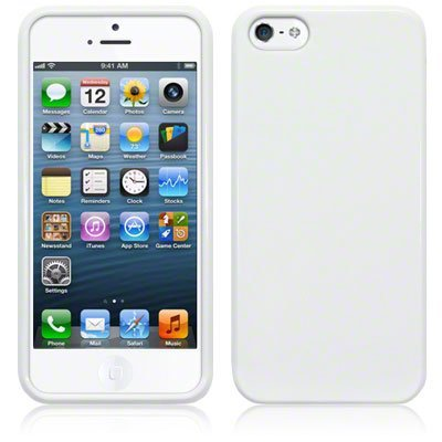 STK Fashionable Protective TPU Case για iPhone 5 White (Λεπτή και ελαφριά!)